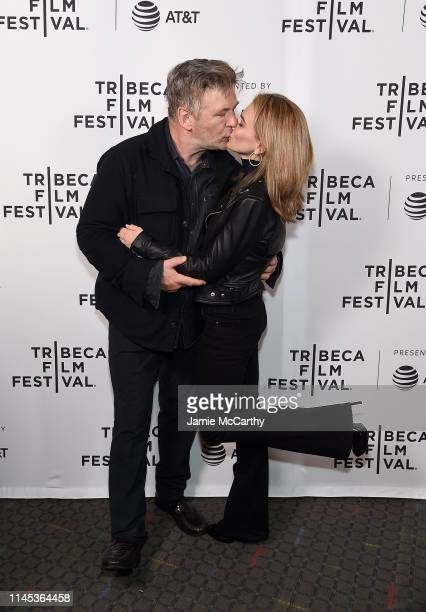 Alec Baldwin and Hilaria Baldwin attend the Crown Vic screening at the 2019 Tribeca Film Festival at SVA Theater on April 26 2019 in New York City