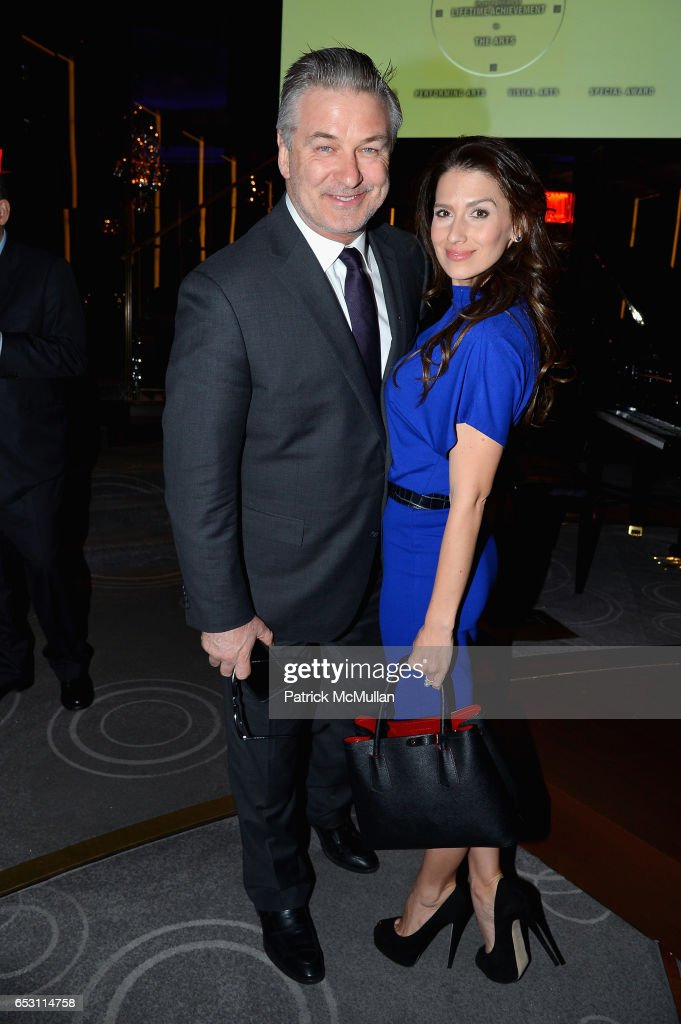 Alec Baldwin and Hilaria Baldwin attend the Guild Hall Academy of the Arts Achievement Awards & Benefit Dinner at The Rainbow Room on March 13, 2017 in New York City.