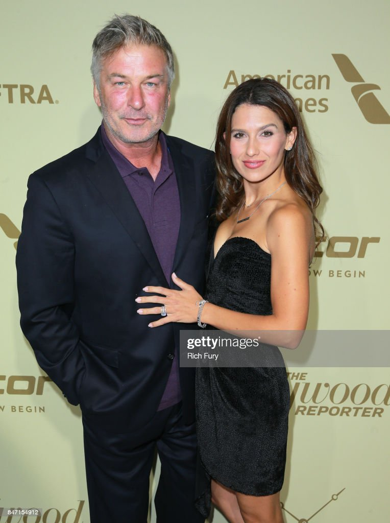 Alec Baldwin (L) and Hilaria Baldwin attend The Hollywood Reporter and SAG-AFTRA Inaugural Emmy Nominees Night presented by American Airlines, Breguet, and Dacor at the Waldorf Astoria Beverly Hills on September 14, 2017 in Beverly Hills, California.