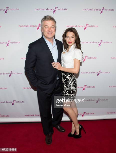 Alec Baldwin and Hilaria Baldwin attend the National Dance Institute Annual Gala at PlayStation Theater on April 24 2017 in New York City