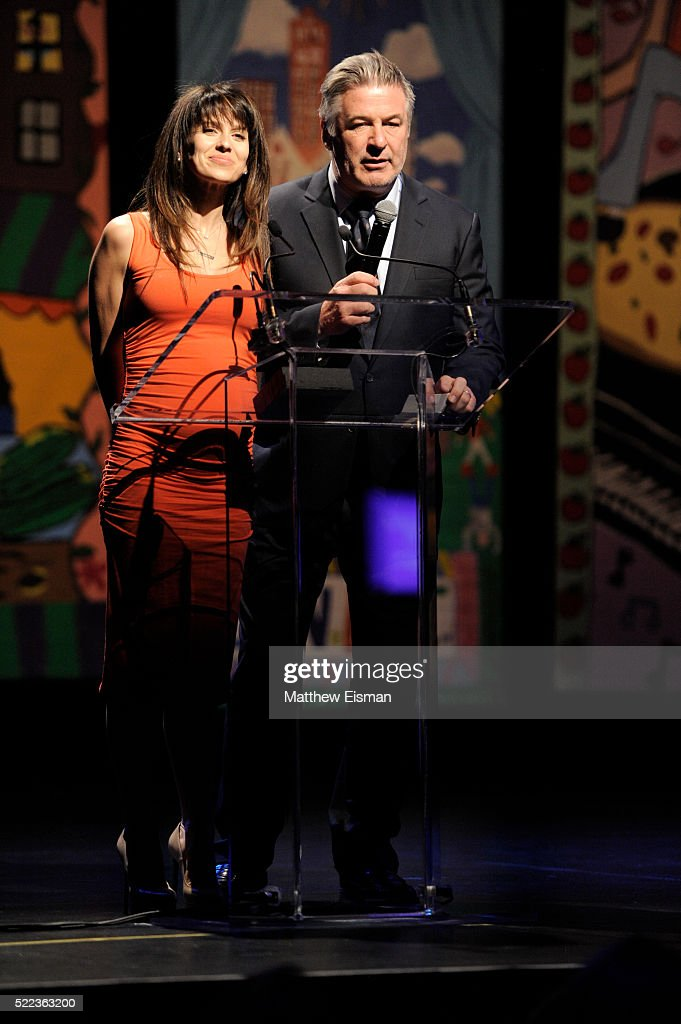 Alec Baldwin (R) and Hilaria Baldwin attend the National Dance Institute's (NDI) 40th Anniversary Annual Gala at PlayStation Theater on April 18, 2016 in New York City.