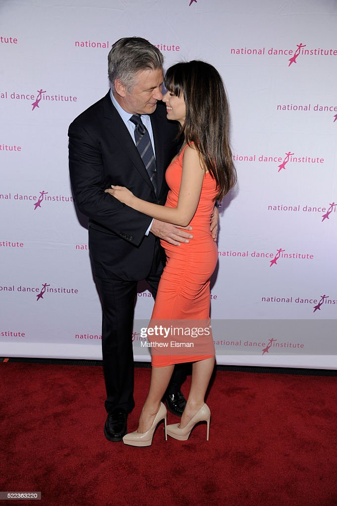 Alec Baldwin (L) and Hilaria Baldwin attend the National Dance Institute's (NDI) 40th Anniversary Annual Gala at PlayStation Theater on April 18, 2016 in New York City.