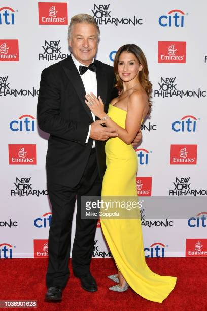 Alec Baldwin and Hilaria Baldwin attend the New York Philharmonic's Opening Gala New York Meet Jaap at David Geffen Hall on September 20 2018 in New...
