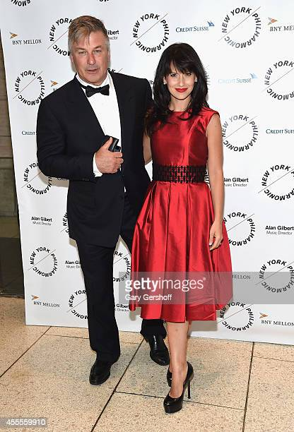 Alec Baldwin and Hilaria Baldwin attend the New York Philharmonic's 173rd Season Opening Gala at Avery Fisher Hall at Lincoln Center for the...