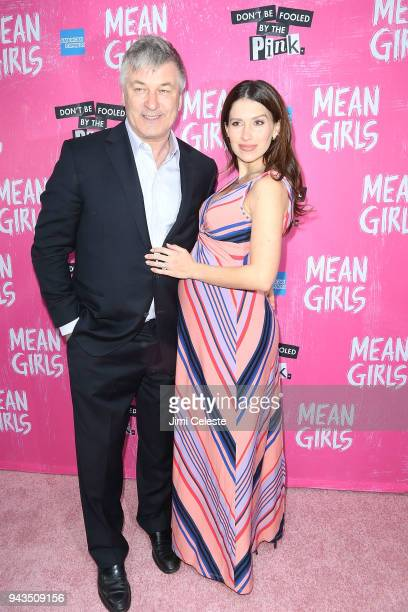 Alec Baldwin and Hilaria Baldwin attend the opening night of 'Mean Girls' on Broadway at August Wilson Theatre on April 8 2018 in New York City