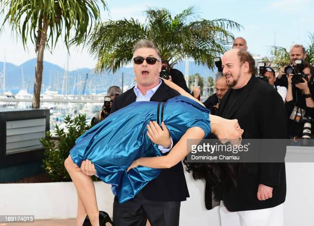 Alec Baldwin and Hilaria Baldwin attend the photocall for 'Seduced and Abandoned' with director James Toback during The 66th Annual Cannes Film...