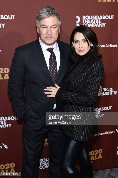 Alec Baldwin and Hilaria Baldwin attend the Roundabout Theater's 2020 Gala at The Ziegfeld Ballroom on March 02, 2020 in New York City.