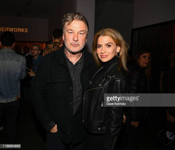 Alec Baldwin and Hilaria Baldwin attend the Tribeca Film Festival AfterParty For Crown Vic Hosted By Bulleit at Bulleit Lounge on April 26 2019 in...