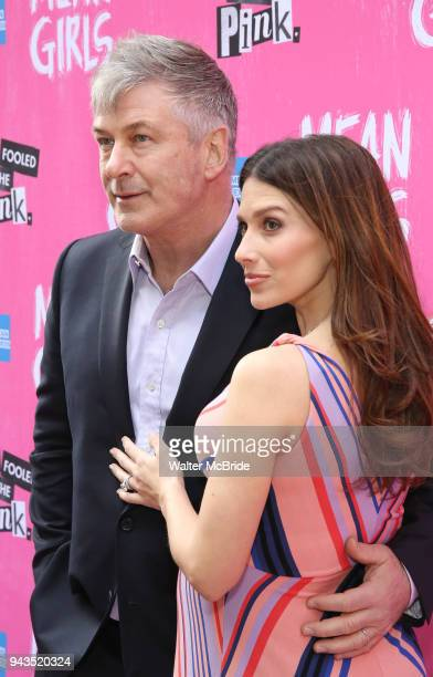 Alec Baldwin and Hilaria Baldwin attending the Broadway Opening Night Performance of 'Mean Girls' at the August Wilson Theatre Theatre on April 8...