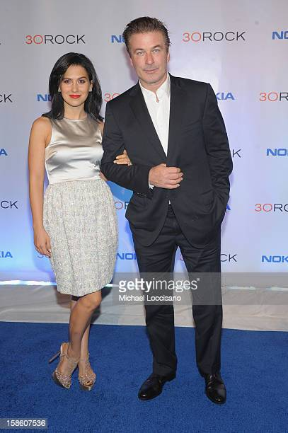 Alec Baldwin and Hilaria Thomas attend '30 Rock' Series Finale Wrap Party at Capitale on December 20 2012 in New York City