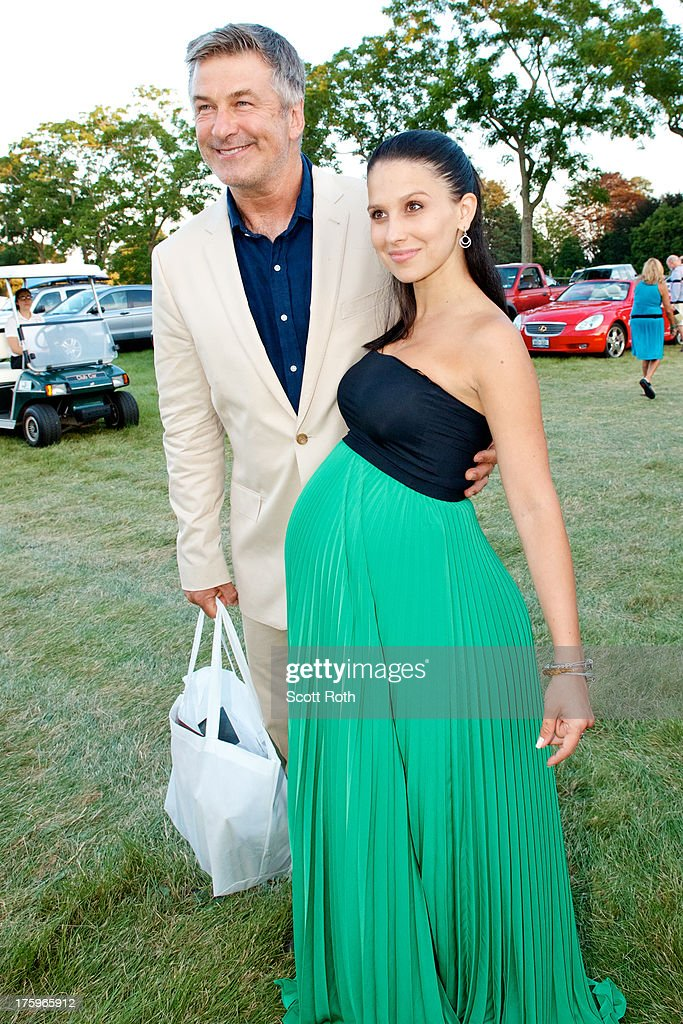 Alec Baldwin and Hilaria Thomas attend 9th Annual Authors Night at The East Hampton Library on August 10, 2013 in East Hampton, New York.
