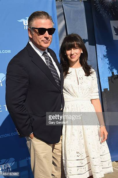 Alec Baldwin and Hilaria Thomas attend the 14th Annual USTA Opening Night Gala at USTA Billie Jean King National Tennis Center on August 25, 2014 in...