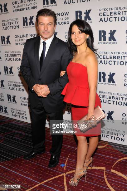 Alec Baldwin and Hilaria Thomas attend the 2012 Ripple Of Hope Gala at The New York Marriott Marquis on December 3 2012 in New York City