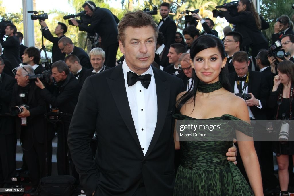 Alec Baldwin and Hilaria Thomas attends the 'Killing Them Softly' Premiere during 65th Annual Cannes Film Festival at Palais des Festivals on May 22, 2012 in Cannes, France.