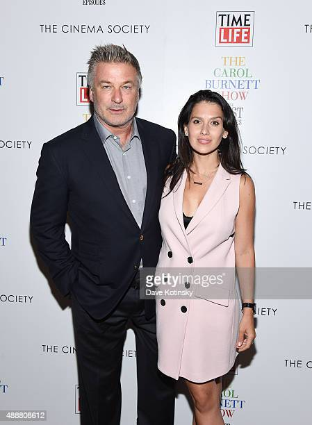 """Alec Baldwin and Hilaria Thomas Baldwin attend the """"The Carol Burnett Show: The Lost Episodes"""" screening hosted by Time Life and The Cinema Society..."""