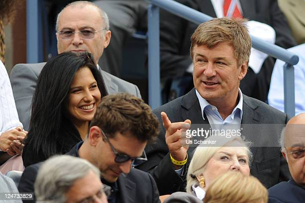 Alec Baldwin and his girlfriend attend the 2011 US Open at USTA Billie Jean King National Tennis Center on September 11 2011 in New York City