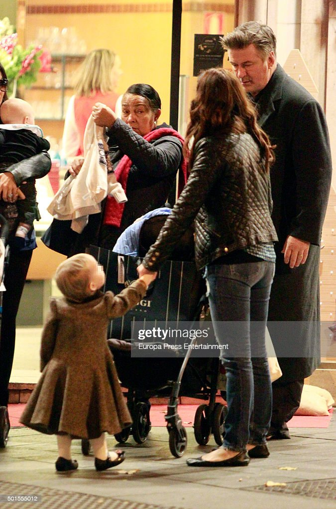 Alec Baldwin and Family Sighting in Madrid - December 15, 2015