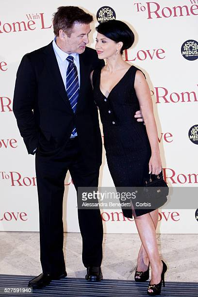Alec Baldwin and Ilaria Thomas attend the world premiere of movie To Rome with Love directed by Woody Allen