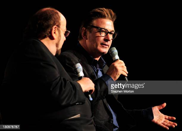 Alec Baldwin and James Toback discuss working with various directors after the screening of the movie 'Barry Lyndon' during the 14th annual Savannah...