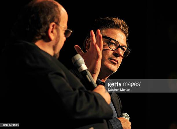 Alec Baldwin and James Toback discuss working with various directors after the screening of the movie Barry Lyndon during the 14th annual Savannah...
