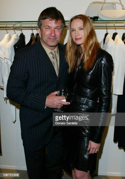 Alec Baldwin and Kelly Lynch during Cerruti and David Cardona CoHost Private Party to Celebrate the Opening of Cerruti Beverly Hills Benefiting OPCC...