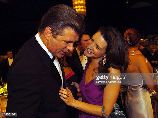 Alec Baldwin and Kristin Davis during 10th Annual Screen Actors Guild Awards - Backstage and Audience at Shrine Auditorium in Los Angeles, California, United States.