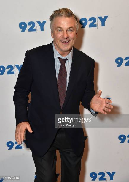 Alec Baldwin and Kurt Andersen In Conversation With Brian Lehrer You Can't Spell America Without Me at 92nd Street Y on November 9 2017 in New York...