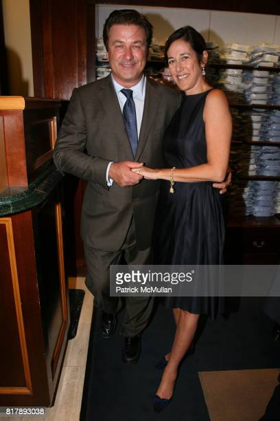 Alec Baldwin and Lisa Birnbach attend The launch of 'True Prep' at Brooks Brothers on September 14 2010 in New York