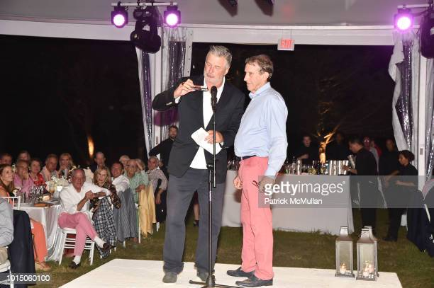 Alec Baldwin and Marty Cohen attend the Guild Hall Summer Gala 2018 at Guild Hall on August 10 2018 in East Hampton New York