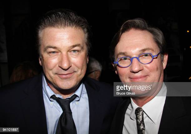 Alec Baldwin and Richard Thomas pose at the opening night after party for Race at the Redeye Grill on December 6 2009 in New York City