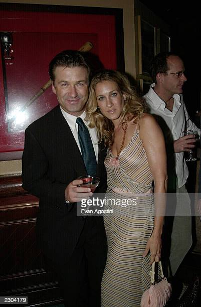 Alec Baldwin and Sarah Jessica Parker at the after-party for Almost Famous at the 25th Toronto International Film Festival on 9/8/00 Photo by Evan...