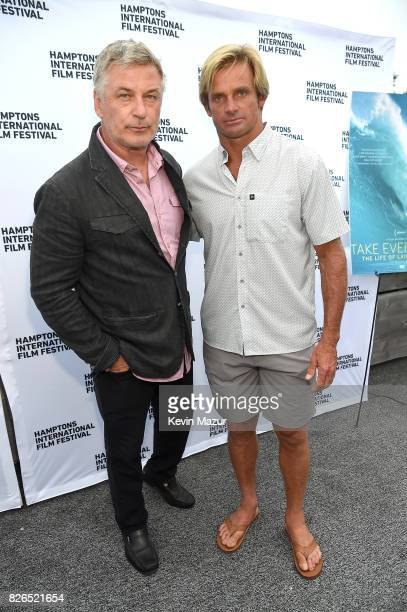 Alec Baldwin and Surfer Laird Hamilton attend The Hamptons International Film Festival SummerDocs Series Screening of TAKE EVERY WAVE: THE LIFE OF...