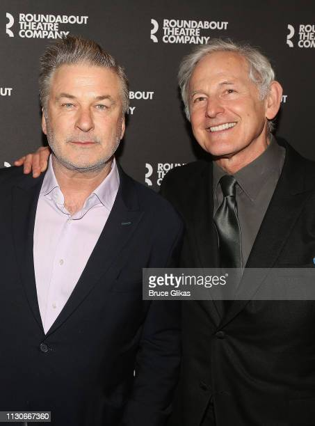Alec Baldwin and Victor Garber pose at the opening night of The Roundabout Theatre Company's production of 'Kiss Me Kate' on Broadway at The Studio...