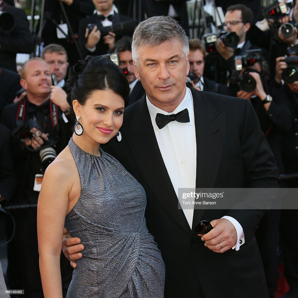 Alec Baldwin and wife Hilaria Baldwin attend the Premiere of 'Blood Ties' during the 66th Annual Cannes Film Festival at the Palais des Festivals on May 20, 2013 in Cannes, France.
