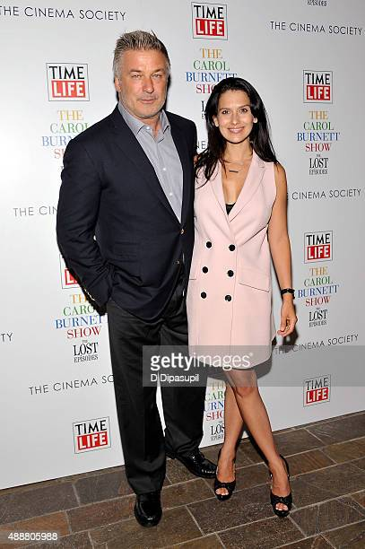 """Alec Baldwin and wife Hilaria Baldwin attend the """"The Carol Burnett Show: The Lost Episodes"""" screening hosted by Time Life and The Cinema Society at..."""