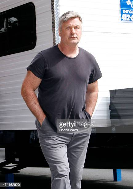 """Alec Baldwin arrives for the final episode of """"The Late Show with David Letterman"""" at the Ed Sullivan Theater on May 20, 2015 in New York City."""