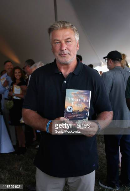 Alec Baldwin at the East Hampton Library's 15th Annual Authors Night Benefit on August 10 2019 in Amagansett New York