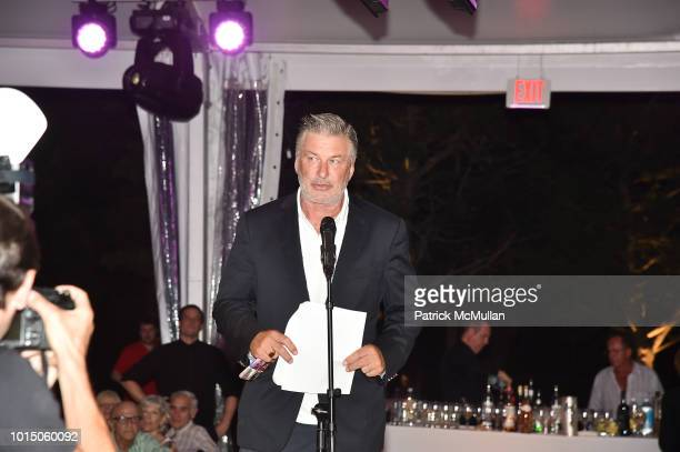 Alec Baldwin attend the Guild Hall Summer Gala 2018 at Guild Hall on August 10 2018 in East Hampton New York