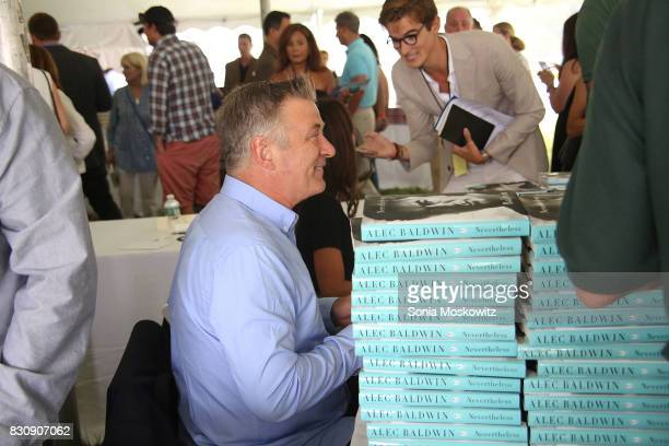Alec Baldwin attends Author's Night 2017 to benefit the East Hampton Library on August 12 2017 in East Hampton New York