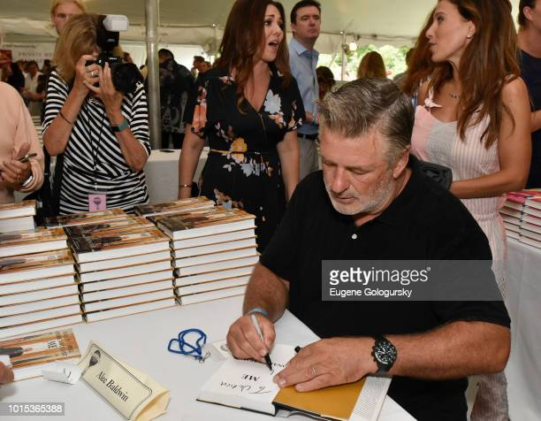 Alec Baldwin attends Authors Night At East Hampton Library on August 11, 2018 in East Hampton, New York.