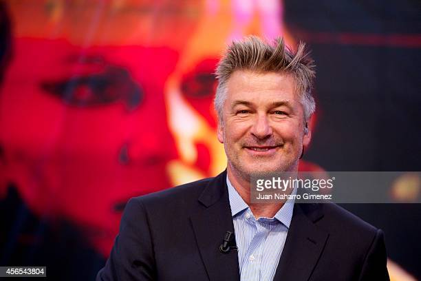 Alec Baldwin attends El Hormiguero TV show at Vertice Studio on October 2 2014 in Madrid Spain