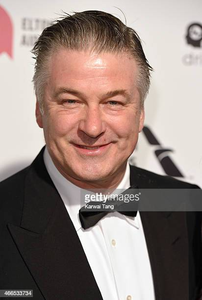 Alec Baldwin attends the Elton John AIDS Foundation's 23rd annual Academy Awards Viewing Party at The City of West Hollywood Park on February 22 2015...