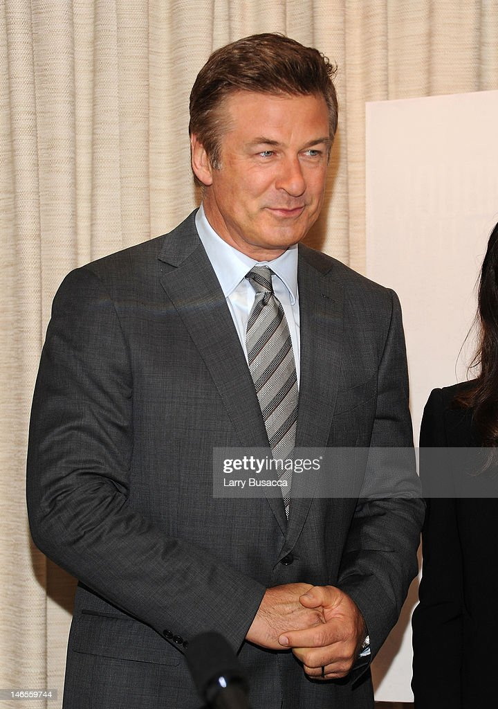 Alec Baldwin attends the 'To Rome With Love' Press Conference on June 19, 2012 in New York City.
