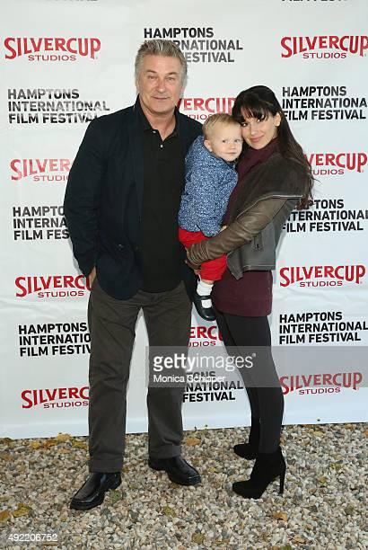 Alec Baldwin, Carmen Gabriela Baldwin and Hilaria Baldwin attend the Chairman's Reception during Day 3 of the 23rd Annual Hamptons International Film...