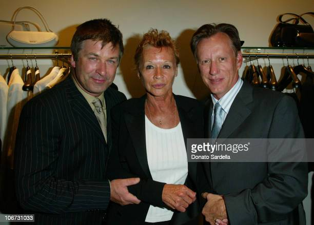 Alec Baldwin Chantal Cerruti and James Woods during Cerruti and David Cardona CoHost Private Party to Celebrate the Opening of Cerruti Beverly Hills...