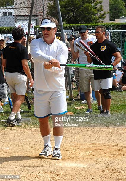 Alec Baldwin during The 58th Annual Artists and Writers Benefit Softball Game at Herrick Park in East Hampton New York United States