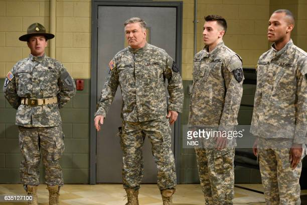 LIVE Alec Baldwin Episode 1718 Pictured Beck Bennett and host Alec Baldwin during the Drill Sergeant sketch on February 11 2017