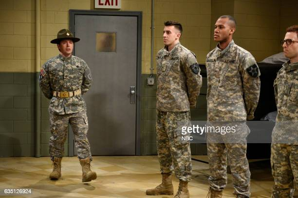 LIVE Alec Baldwin Episode 1718 Pictured Beck Bennett as a Drill Sergeant during the Drill Sergeant sketch on February 11 2017