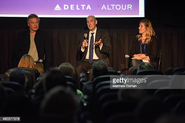 Alec Baldwin Former Chairman of the US Nuclear Regulatory Commission Gregory Jaczko and director Ivy Meeropol speak at the 'Indian Point' Q A on Day...