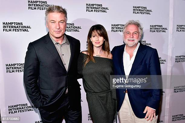 Alec Baldwin Hilaria Baldwin and Randy Mastro attend the Awards Dinner at the Hamptons International Film Festival 2016 at Topping Rose on October 9...